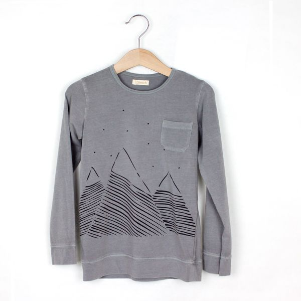 Mountains wahsed-out grey Tshirt - lötiekids