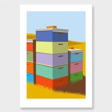 Beehives Art Print by Glenn Jones