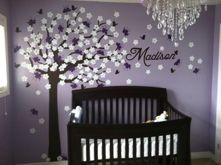 My baby girls purple bedroom decal from surface inspired Infant girl room ideas