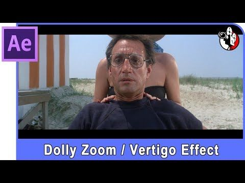 Adobe After Effects Tutorial - Create a Dolly Zoom / Vertigo Effect. Alfred Hitchcock.