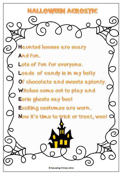writing halloween poems