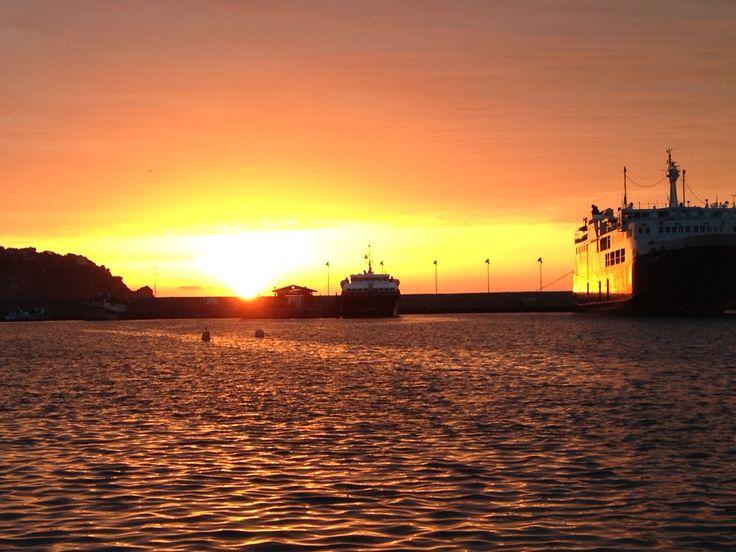Tramonto sul porto di Casamicciola - Ischia