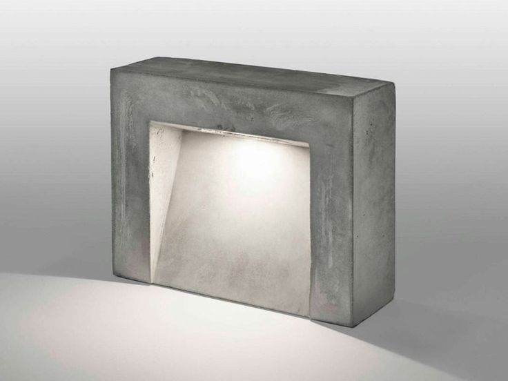 Lámpara de pie de cemento