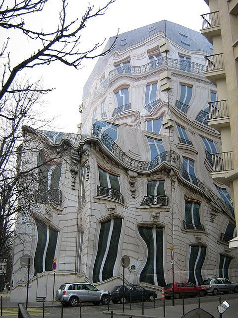 Unusual Building in Paris by Chrisibee, via Flickr