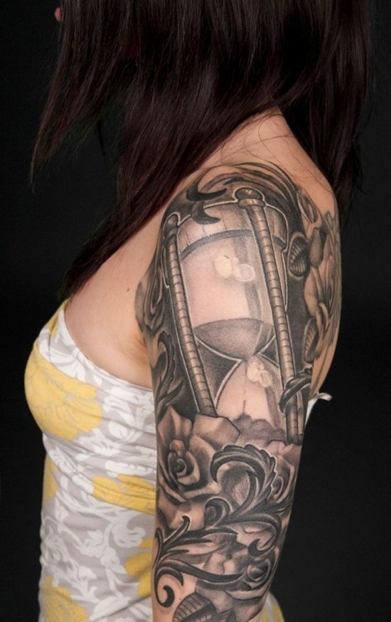 30 Hourglass Tattoos For Time Watchers | Time tattoos ...