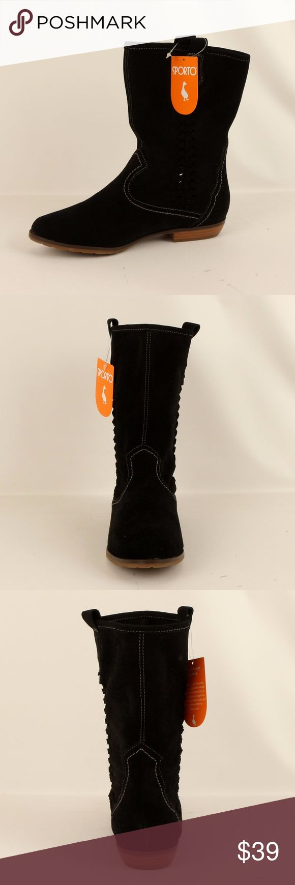 Sporto Black Suede Cowboy Boot (Bridget Black) Shaft:9in Heel Height: 1in  ¥ my boutique ¥  *Please read last pic for more info on possible types of flaws for Name Brand listings like this one. Couldn't fit all that info in the description. =) *Bundle for discounts *No trades & PayPal *Please feel free to ask any questions *Due to the volume of shoes that we have for sell, we really dont have the manpower for model pic.  Thank you for your understanding, Happy Poshing!!  *** We dont restock…