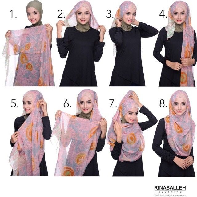 hijab tuto by farahanim razak
