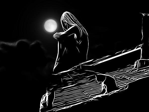 Best The Girl On The Roof Poster By Steve K Art Dark Art 400 x 300