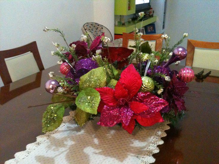 Navidad centro de mesa del comedor navidad pinterest - Centros de mesa de comedor ...