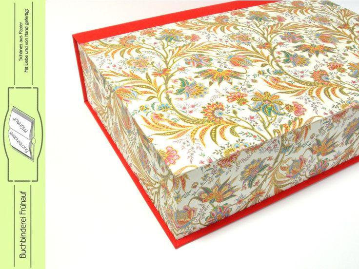 Schachteln - Klappdeckelkasten Box DIN A4 Schreibtischablage - ein Designerstück von BuchbindereiFruehauf bei DaWanda