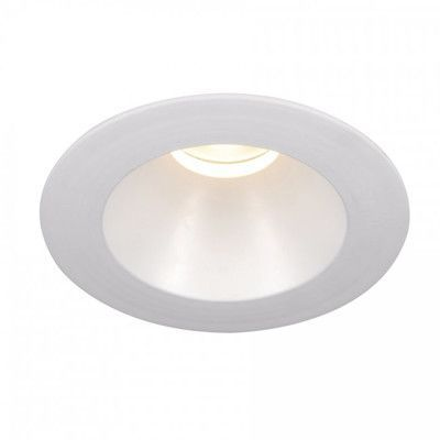 "WAC Lighting Downlight Open Round 3.5"" LED Recessed Trim with 15 Degree Beam Angle Bulb: 4000K, Finish Color: White"