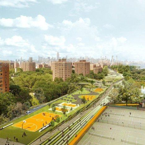 Bjarke Ingels says the $335 million BIG was awarded to upgrade Manhattan's storm defences will be used to create a flood barrier disguised as a park.