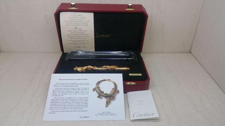 Cartier Crocodiles de Cartier Exceptional La Doña Maria Felix LE Fountain Pen  #Cartier