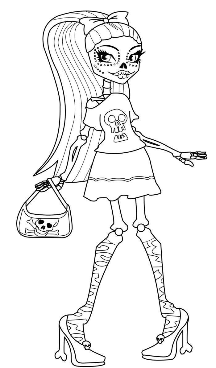 coloring pages monster high skull - photo#19