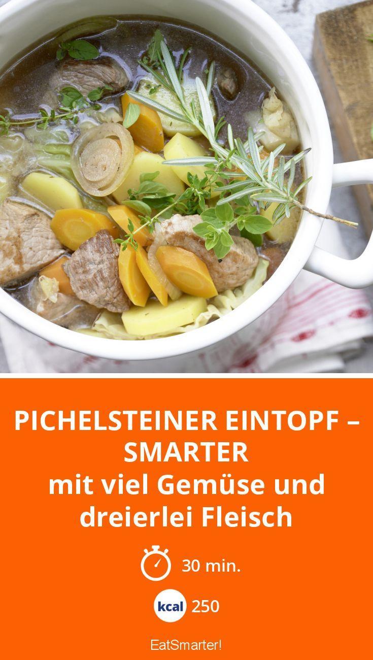 Pichelsteiner Eintopf – smarter - mit viel Gemüse und dreierlei Fleisch - smarter - Kalorien: 250 Kcal - Zeit: 30 Min. | eatsmarter.de