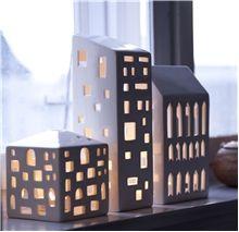 Skab din egen by med lyshuse  i porcelæn
