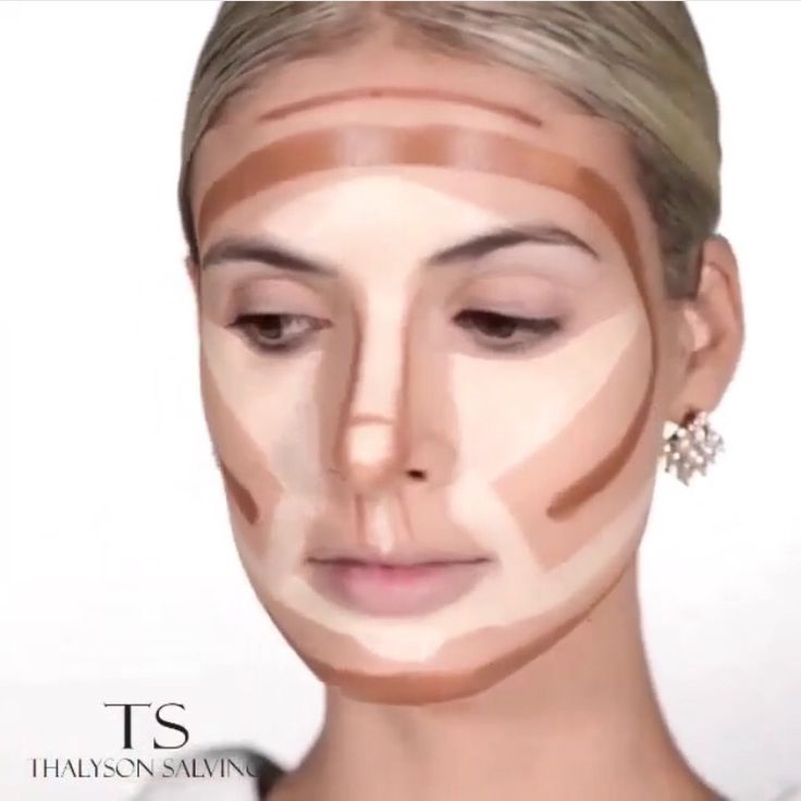 Contouring and highlighting for a round face!