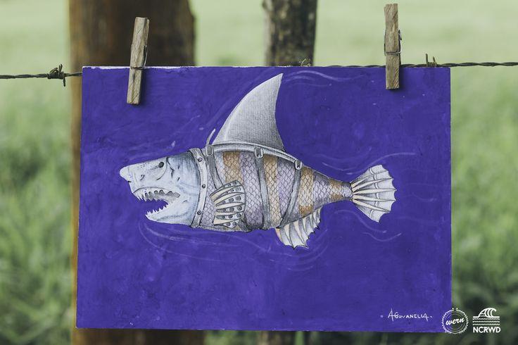 SharkFish- Arte feita em aquarela