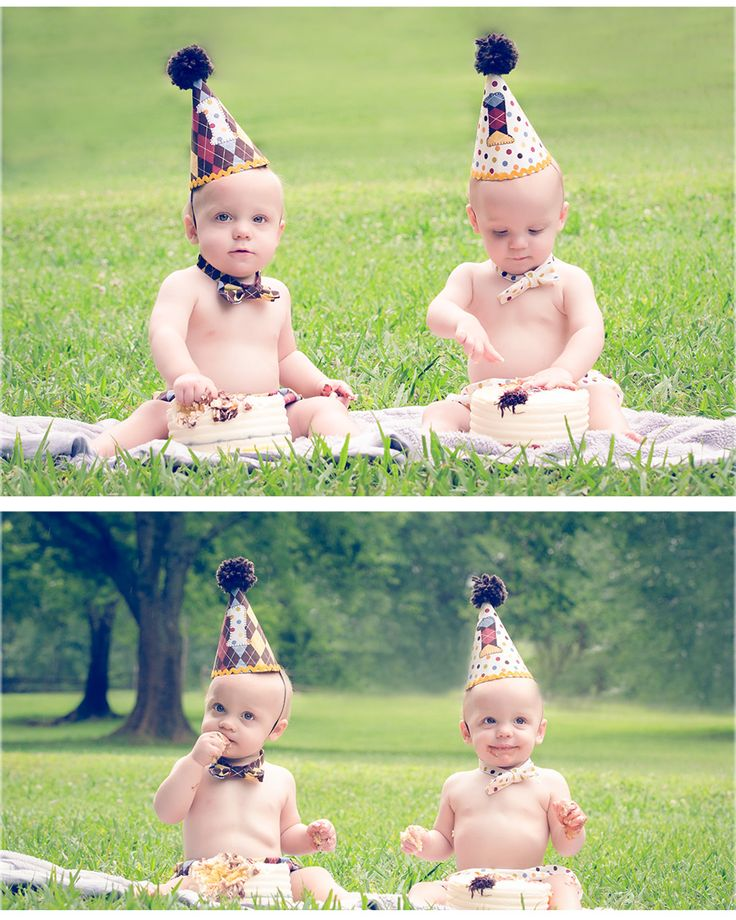 One year old photo session and birthday cake smash! Come check out my favorite photos of these one year old twins! http://www.rosaashdown.com/cake-smash-durham-photographer/