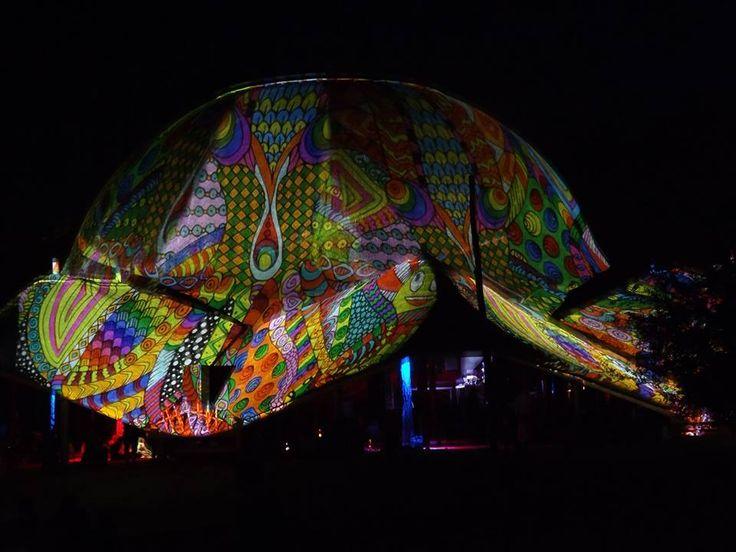Ozora fest 2013 Dom projection    #ozora #ozorafestival #ozorafestival2013 #nightprojection #raypainting #visual