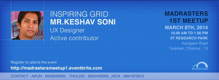 Come and join us to know how GRIDS are useful in design. #MadrastersMeetup