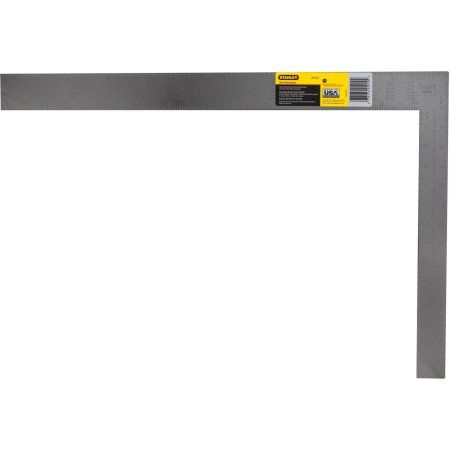 Stanley Hand Tools 45 910 24 Inch Steel Rafter/Roofing Square, Silver