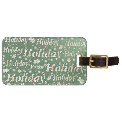 holiday Luggage tag leisure shiny metal font Bag Tag - pattern sample design template diy cyo customize