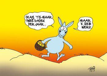 Afbeelding van http://www.kaartwereld.nl/img/cards/350x350/paas-kaarten/toon-van-driel-kaart-met-grappig-konijn-met-mandje-voorkant.jpg.