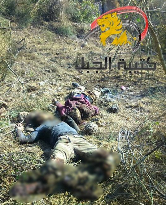 Pro- er-DOG-an 'rebel' bodies in NE #Lattakia countryside after #SAA recaptured #Kinsabba today