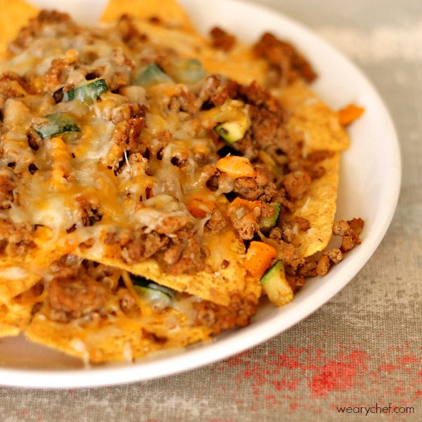 Veggie Loaded Healthy Nachos: Recipe, Nachos Loaded, Food, Loaded ...