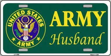 Army Husband Metal Novelty License Plate