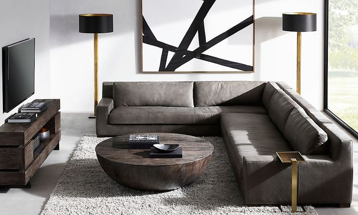 leather sectional in den https://www.rhmodern.com/rooms/?id=556015