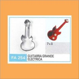 Categoría: Cortantes Metalicos Galletas - Producto: Cortante Metal Guitarra Electrica Grande - Fa254 - Envase: Unidad - Presentación: X Unid. - Marca: Flogus