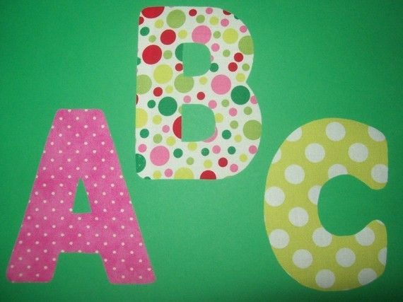 fabric applique template pattern only alphabet letters by etsykim 1200