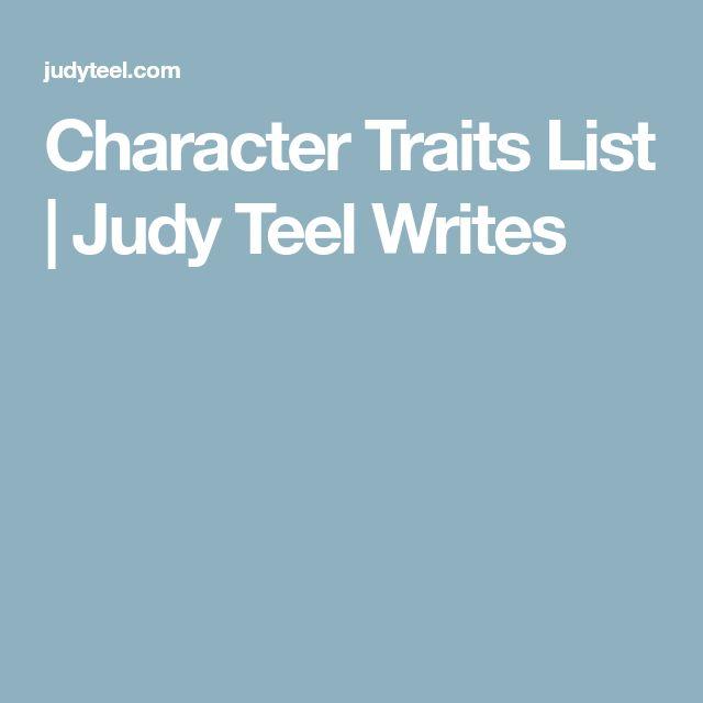 Best 25+ Character traits list ideas on Pinterest List of traits - positive character traits