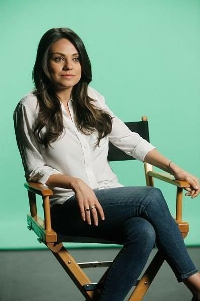 Mila Kunis  Mila... set for interview  ( behind the scenes segment for Jimmy Kimmel Live ) shared to groups 8/5/17