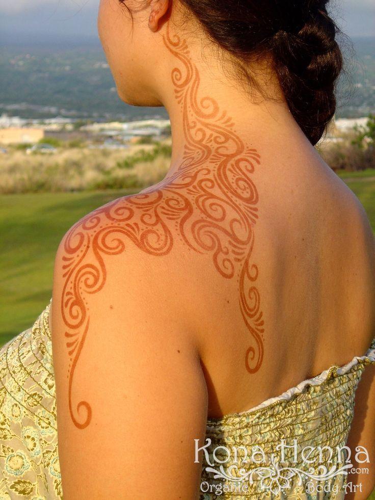 Kona Henna Studio - The Original @jaumaelynne!! Shoulder Swirls :)