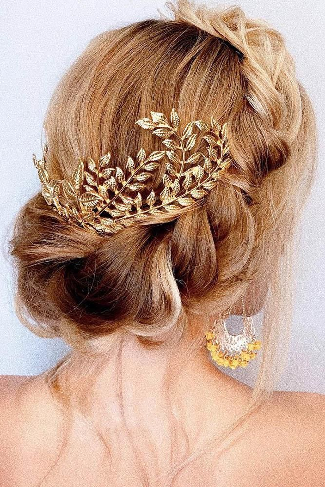 39 Greek Wedding Hairstyles For The Divine Brides ️ greek ...