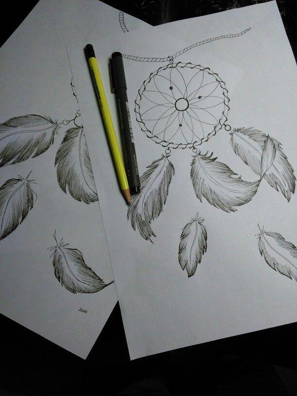 Acchiappasogni, disegni a matita Pencildraw Laura marinelli