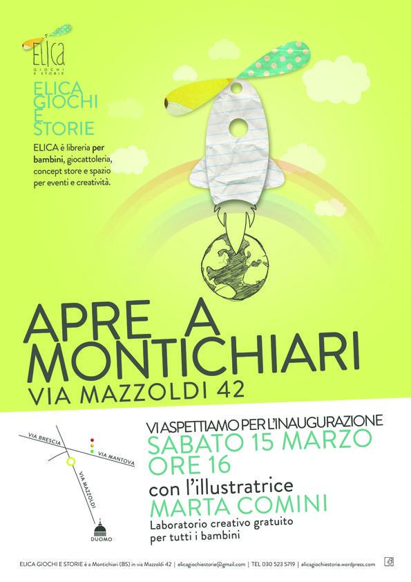 Inaugurazione libreria Elica Giochi e storie a Montichiari (Bs)