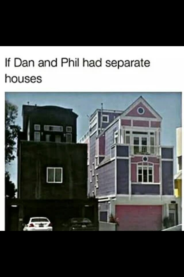 If Dan and Phil had separate houses X3