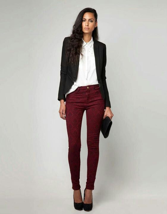 Love this combination# the color of the pants do all the outfit#