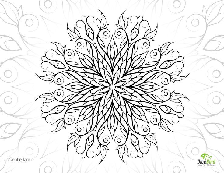 gentledance flower free online coloring books for adults - Free Online Coloring Pages For Adults