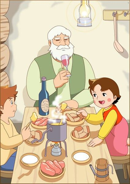 Heidi, Peter and her grandpa