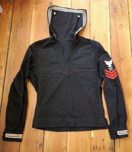 Vintage 40s WWII US Navy SAILORS CRACKER JACK 100% Wool Jumper Uniform Shirt 36 #USNavy #MilitaryUniform
