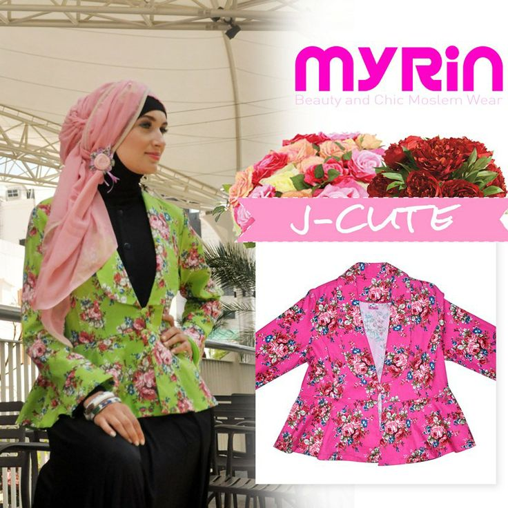 Jcute -- Jacket Cute 325.000 Lovely blazer denim comes in two color. Flowery your heart <3