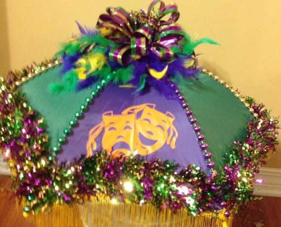 Mardi Gras Second Line Umbrella With Beads And By Katskraftymeow