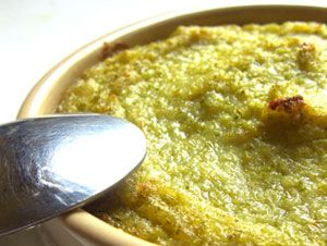 Mashed broccoli souffles