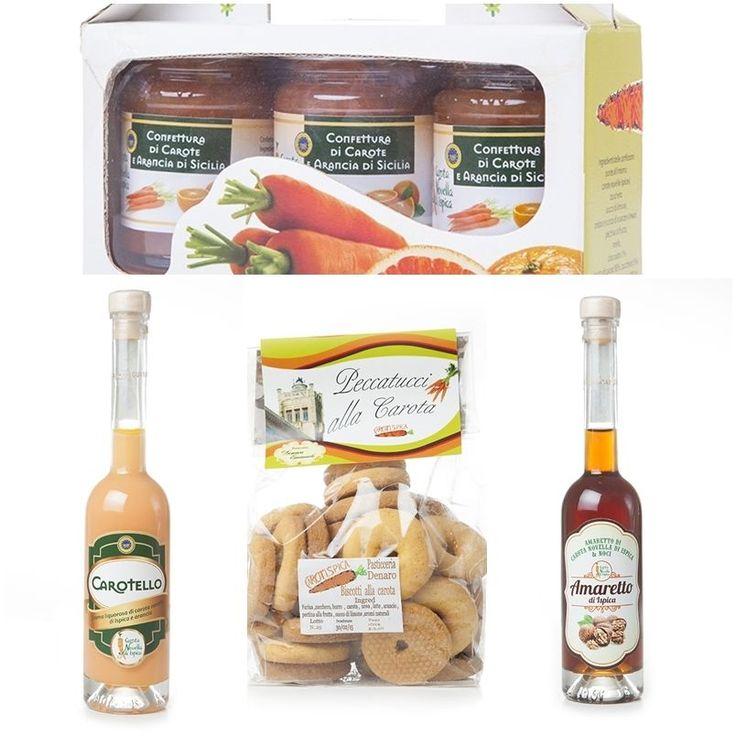 Confezione regalo CarotIspica carota IGP di Ispica prodotti tipici siciliani