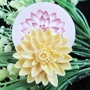 One Hole Deep Flower Silicone Mold Fondant Molds Sugar Craft Tools Resin flowers Mould  For Cakes – USD $ 5.99